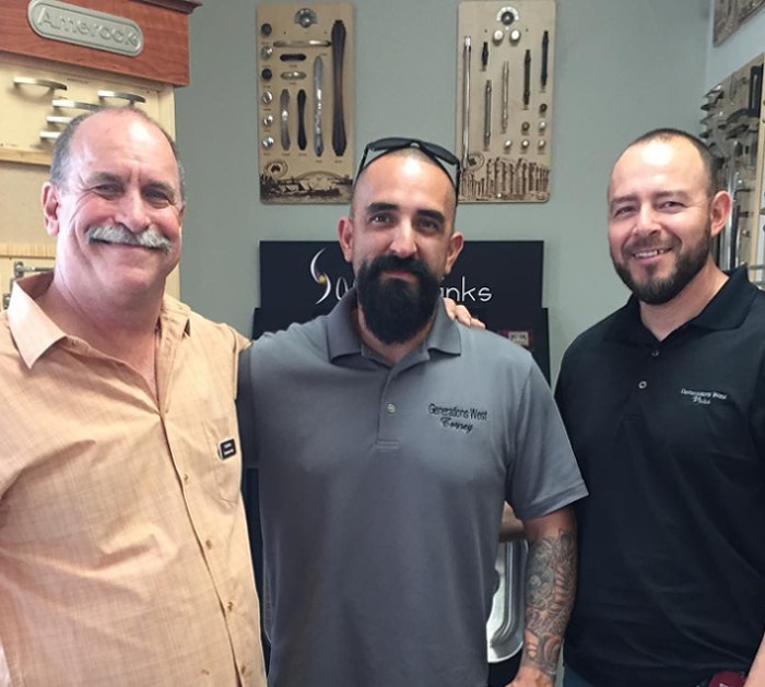 Generations West Construction President Craig Blecka with Superintendents Corney Lopez and Victor Ramos